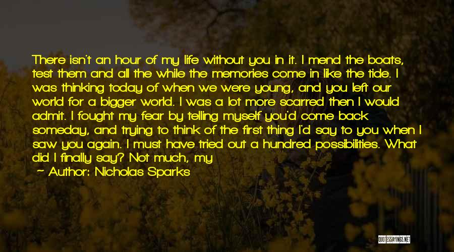 Stay Out My Life Quotes By Nicholas Sparks