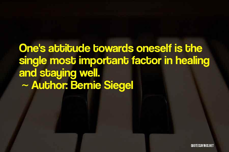 Staying Single Quotes By Bernie Siegel