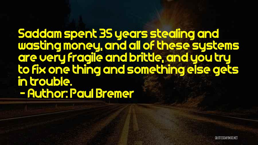 Stealing Something Quotes By Paul Bremer