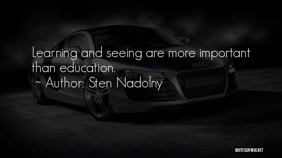 Sten Nadolny Quotes 2042440