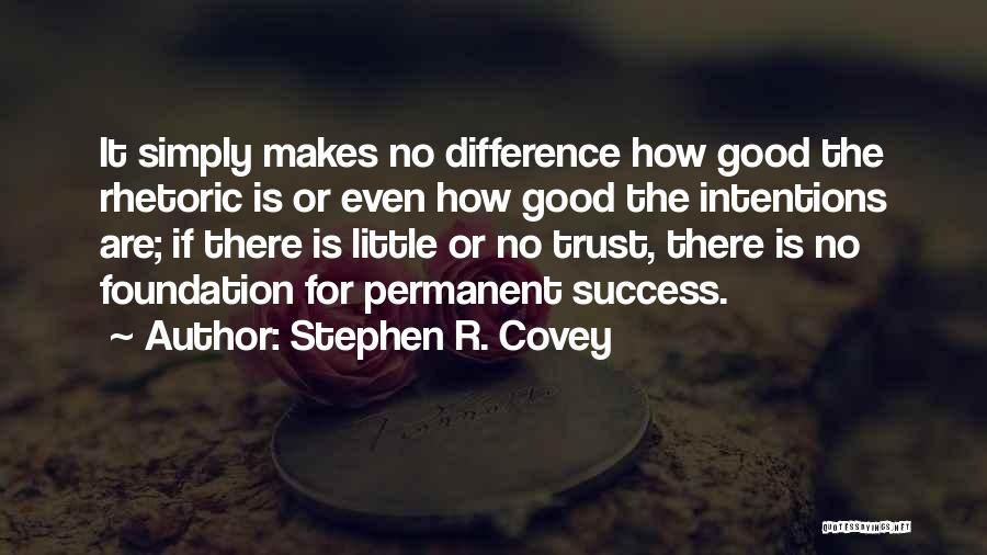 Stephen R Covey Trust Quotes By Stephen R. Covey