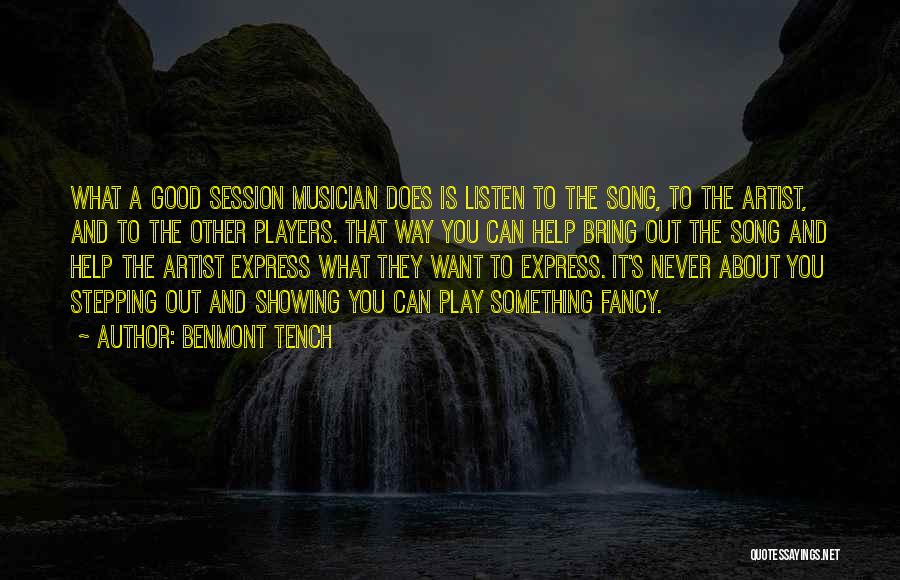 Stepping Out Quotes By Benmont Tench