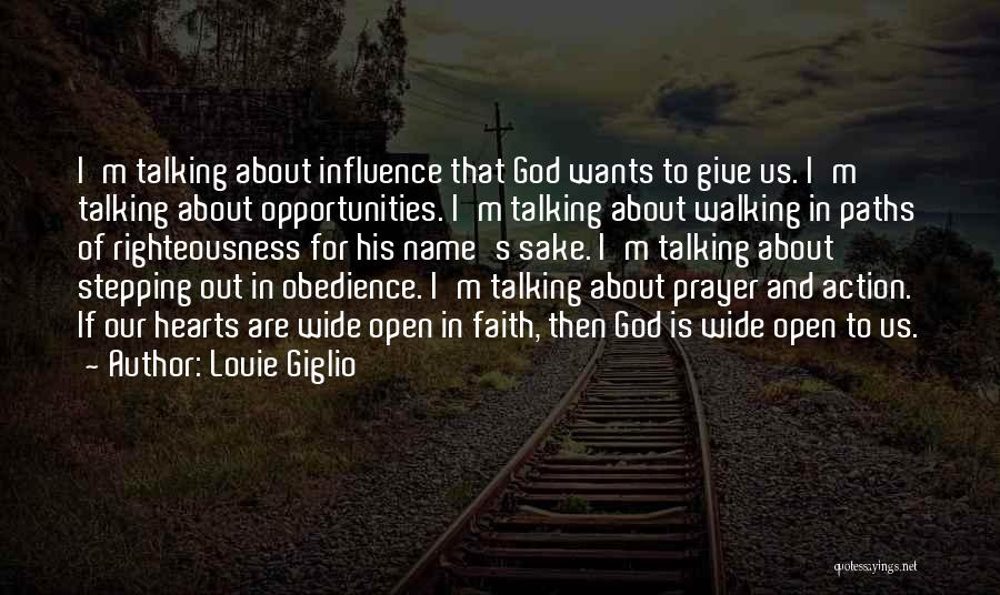 Stepping Out Quotes By Louie Giglio