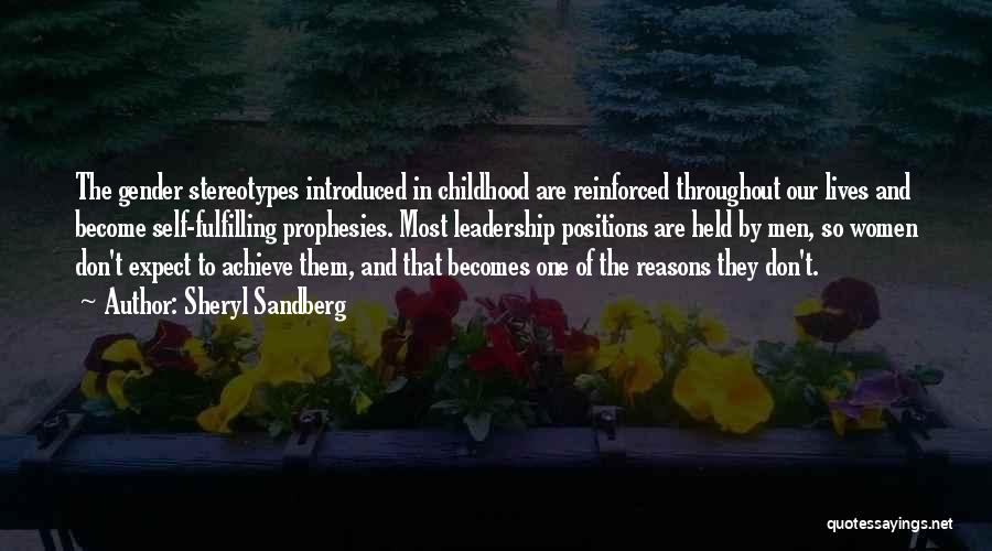 Stereotypes Gender Quotes By Sheryl Sandberg