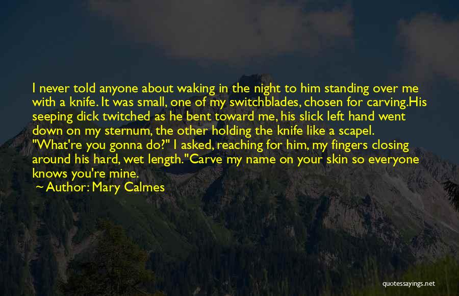 Sternum Quotes By Mary Calmes