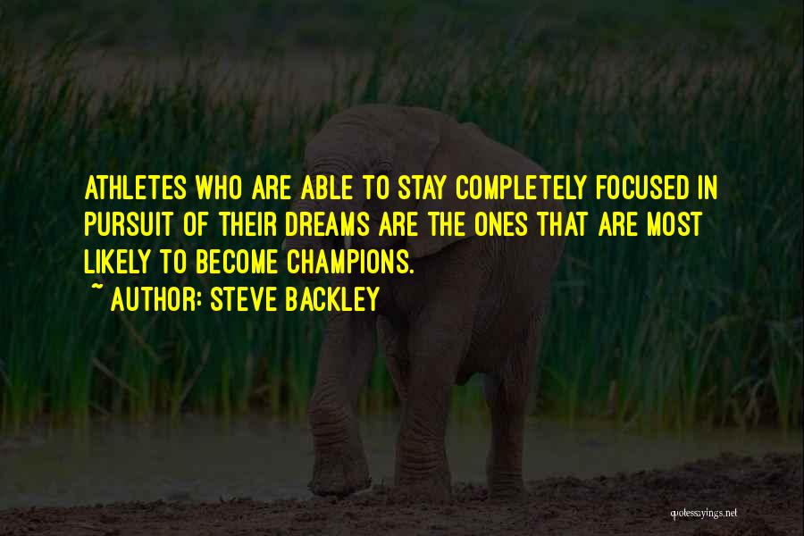 Steve Backley Quotes 2229458