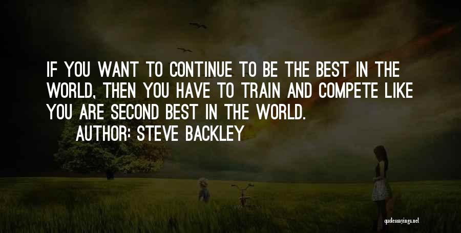 Steve Backley Quotes 944915