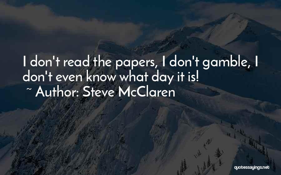 Steve McClaren Quotes 1414611