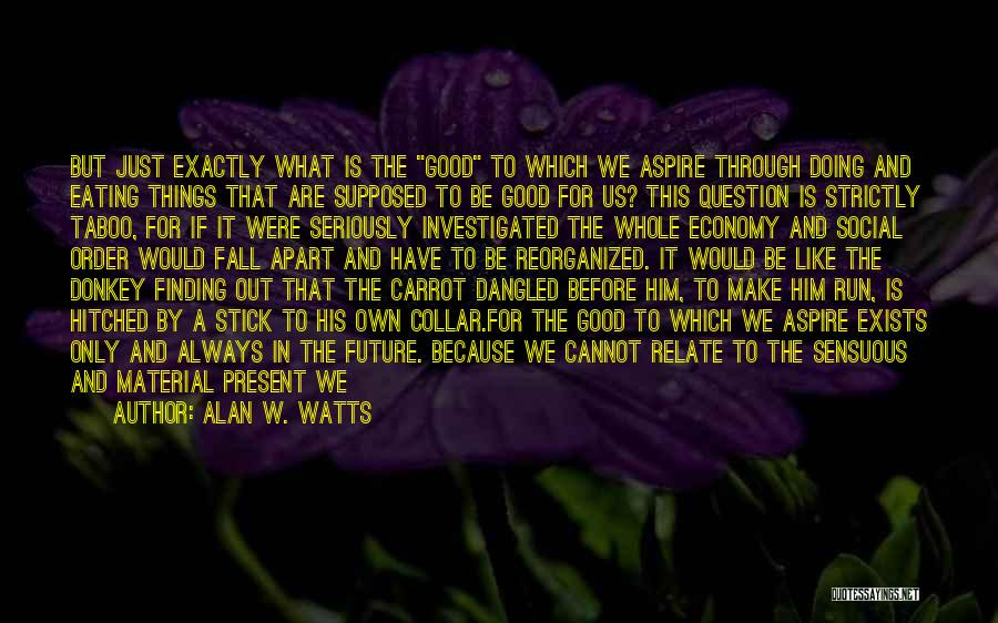Stick And Carrot Quotes By Alan W. Watts