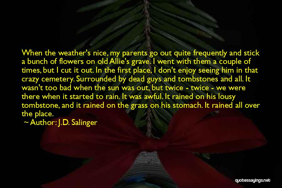 Stick In There Quotes By J.D. Salinger