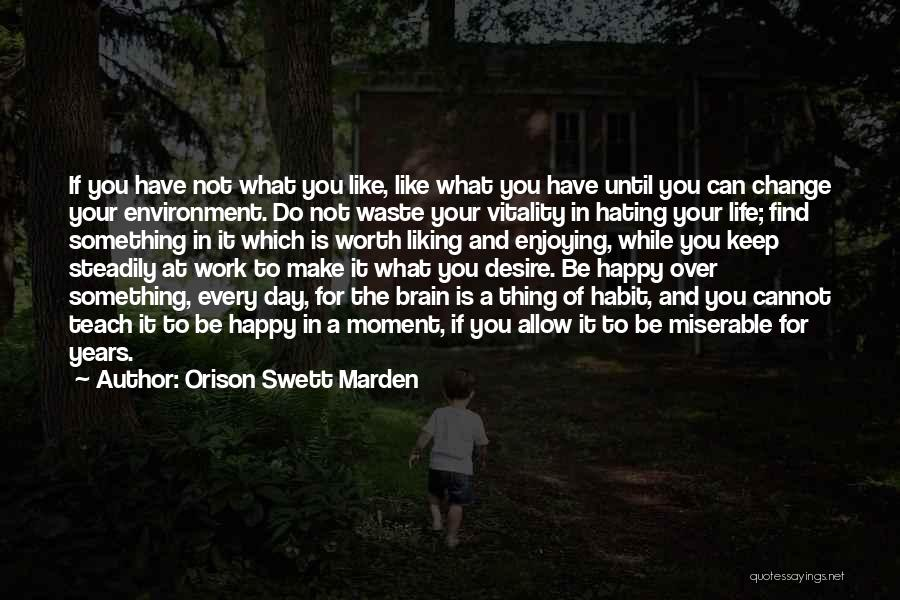 Still Enjoying Life Quotes By Orison Swett Marden