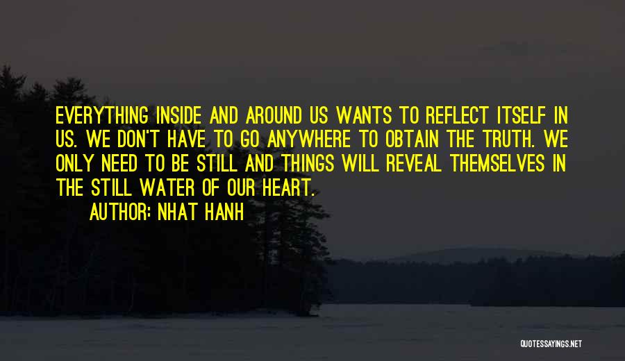 Still Water Quotes By Nhat Hanh