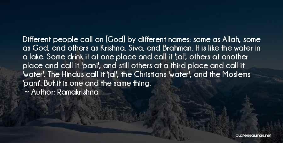 Still Water Quotes By Ramakrishna