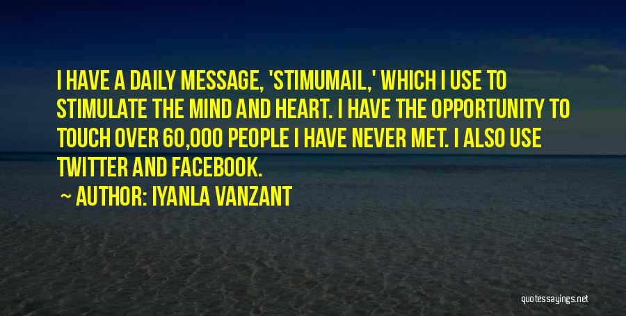Stimulate The Mind Quotes By Iyanla Vanzant