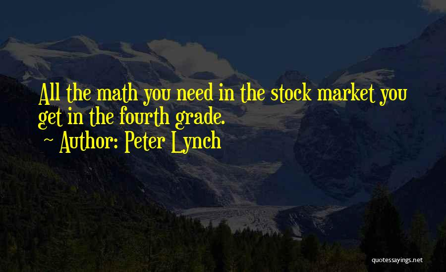 Stock Market Investing Quotes By Peter Lynch