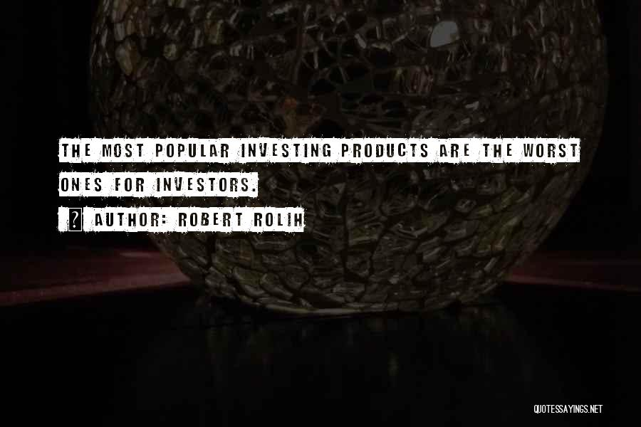 Stock Market Investing Quotes By Robert Rolih