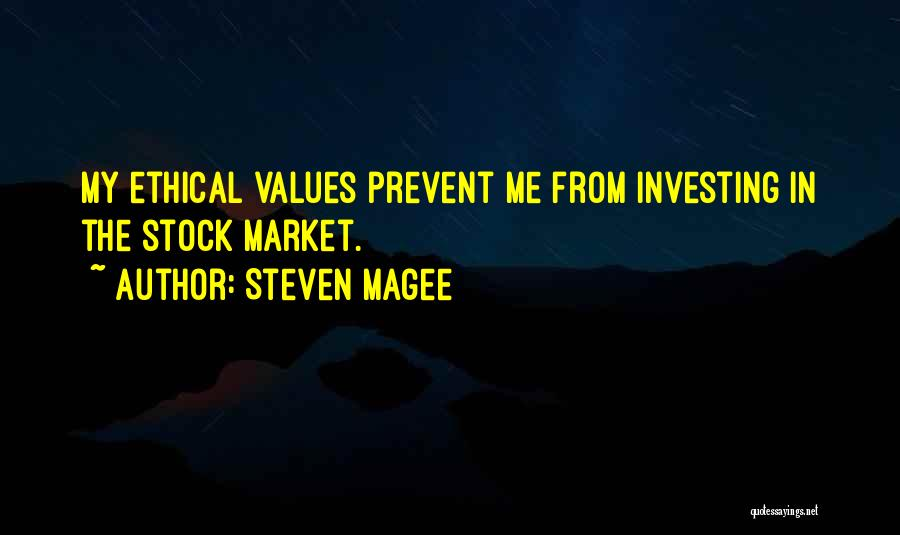 Stock Market Investing Quotes By Steven Magee