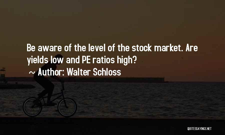 Stock Market Investing Quotes By Walter Schloss