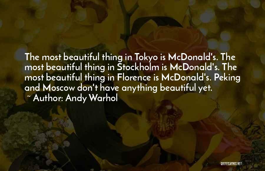 Stockholm Quotes By Andy Warhol