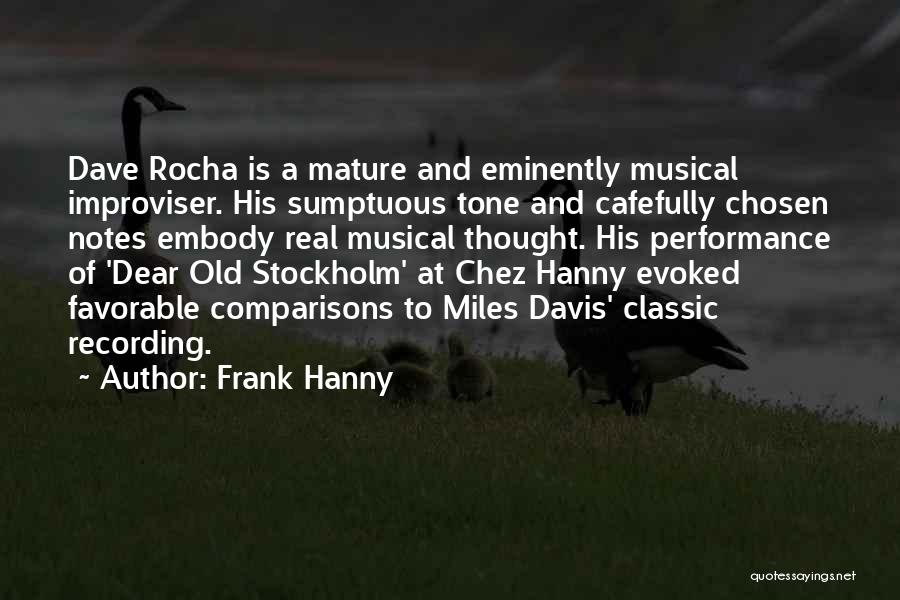 Stockholm Quotes By Frank Hanny