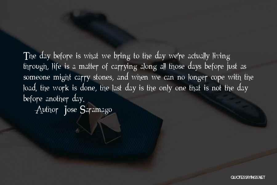 Stones And Life Quotes By Jose Saramago