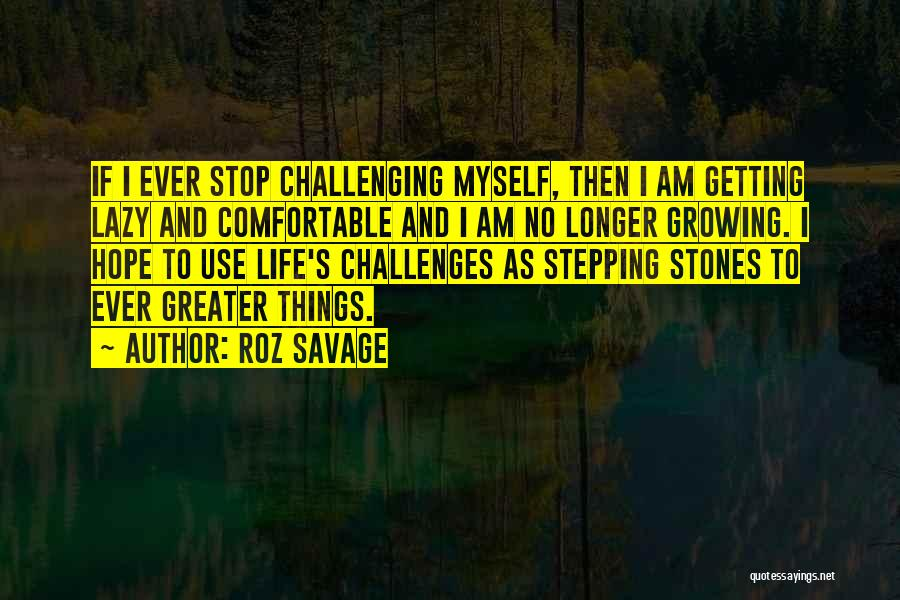 Stones And Life Quotes By Roz Savage
