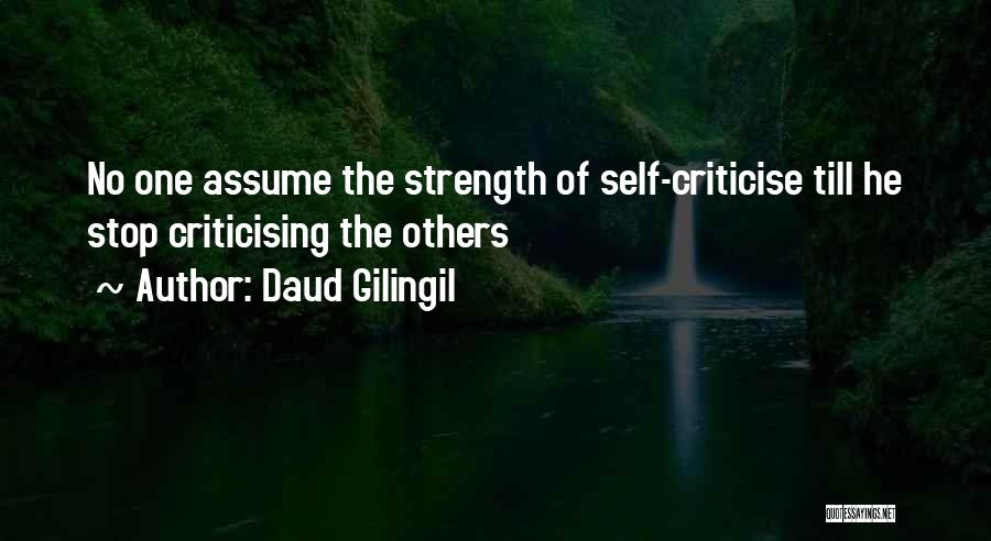 Stop Assume Quotes By Daud Gilingil