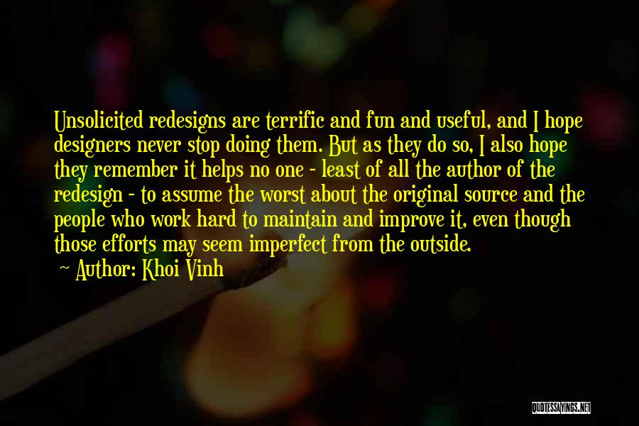 Stop Assume Quotes By Khoi Vinh