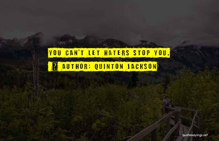Stop Haters Quotes By Quinton Jackson
