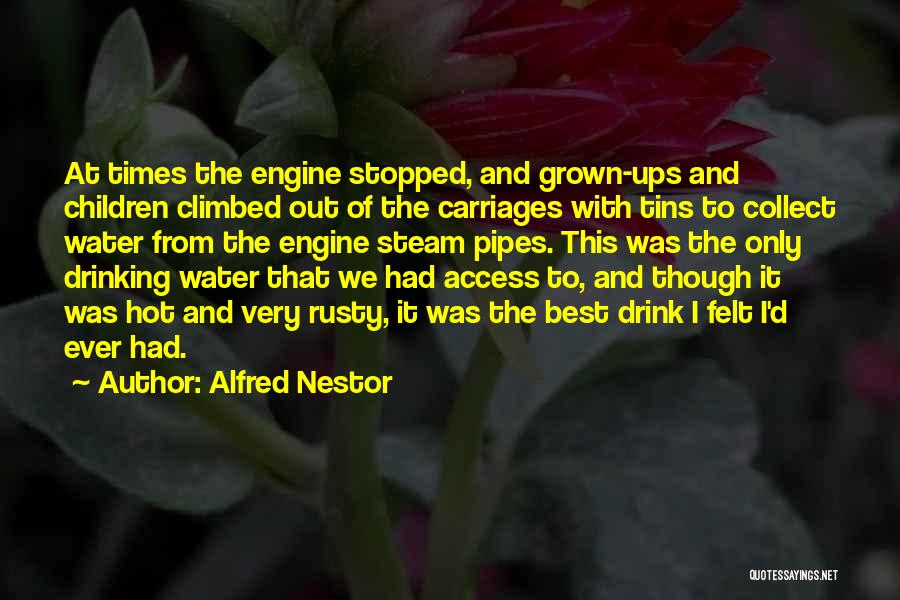 Stopped Drinking Quotes By Alfred Nestor