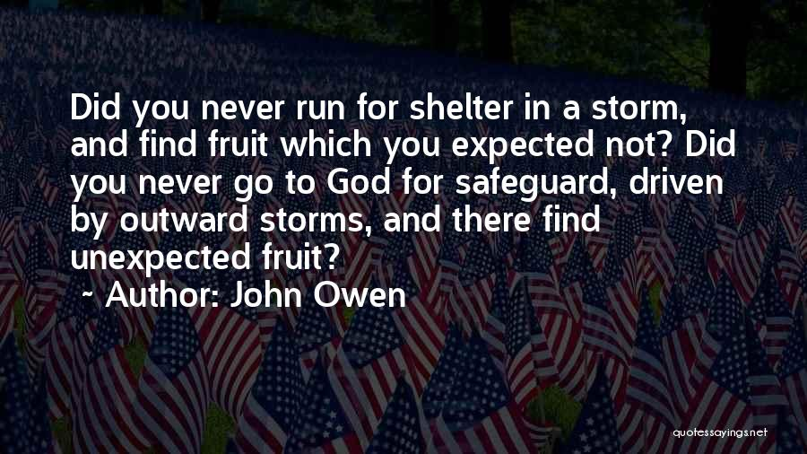 Storm Shelter Quotes By John Owen