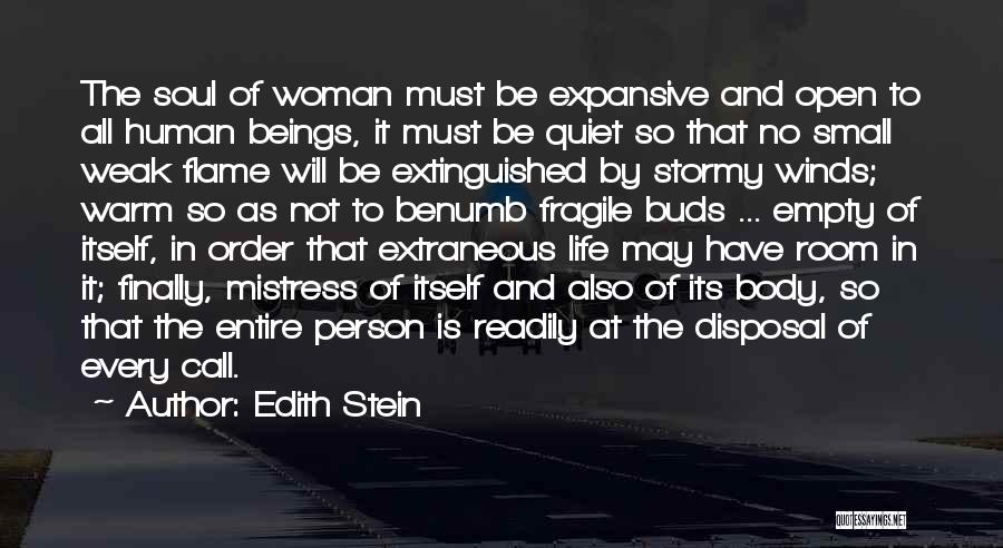 Stormy Life Quotes By Edith Stein