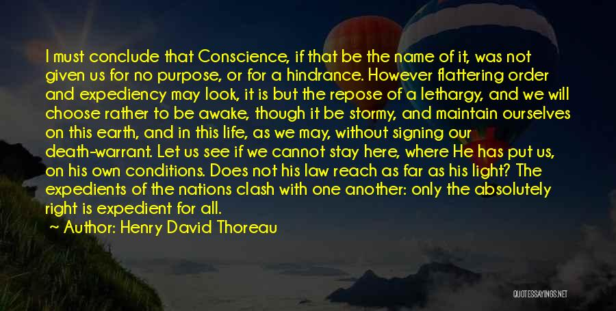 Stormy Life Quotes By Henry David Thoreau