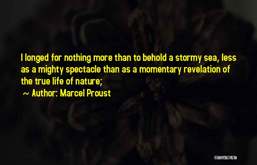 Stormy Life Quotes By Marcel Proust