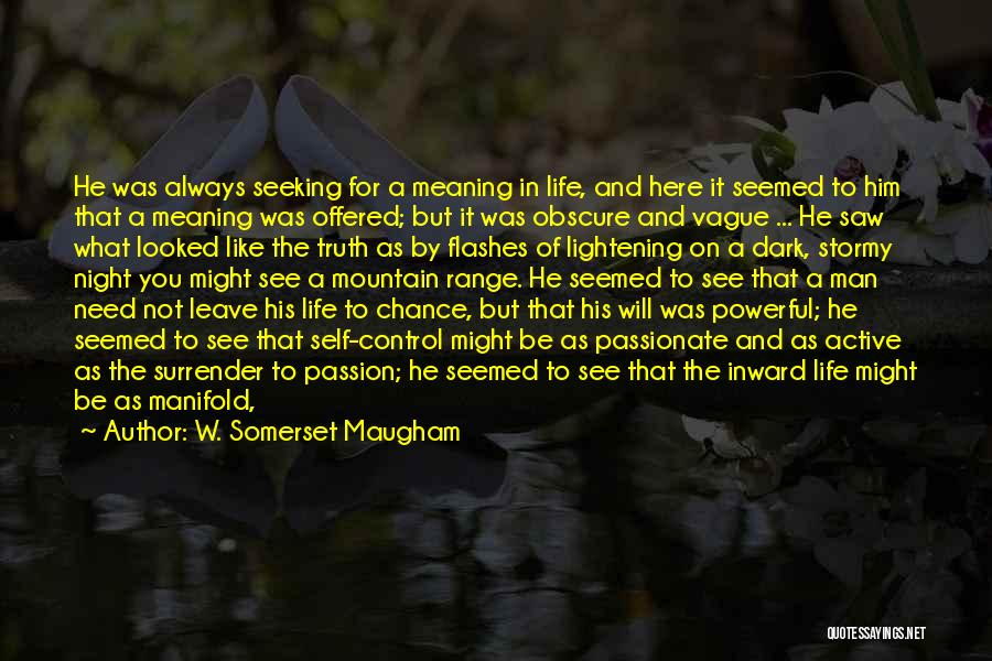 Stormy Life Quotes By W. Somerset Maugham