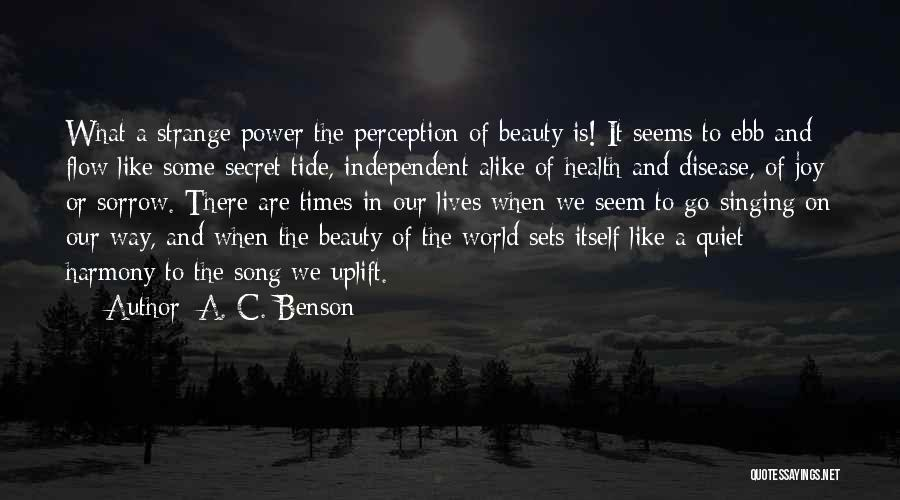 Strange Beauty Quotes By A. C. Benson
