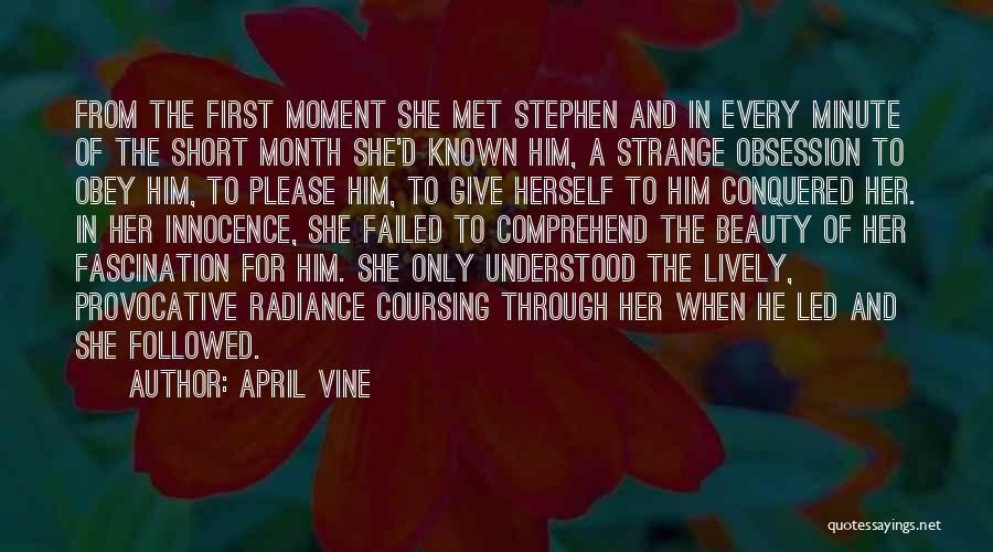 Strange Beauty Quotes By April Vine