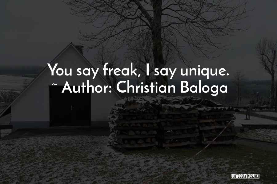 Strange Beauty Quotes By Christian Baloga