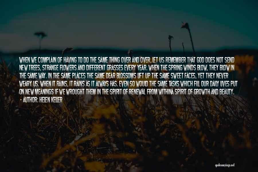 Strange Beauty Quotes By Helen Keller
