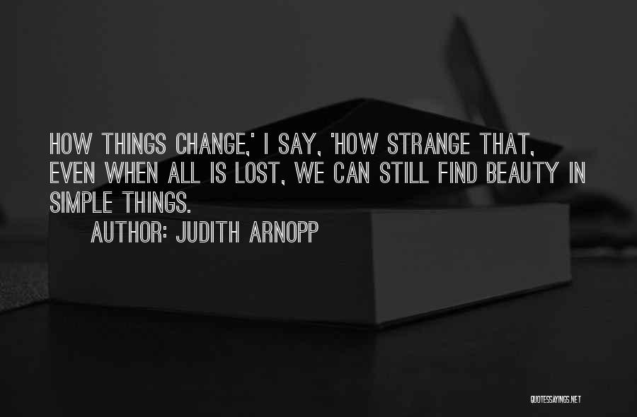 Strange Beauty Quotes By Judith Arnopp