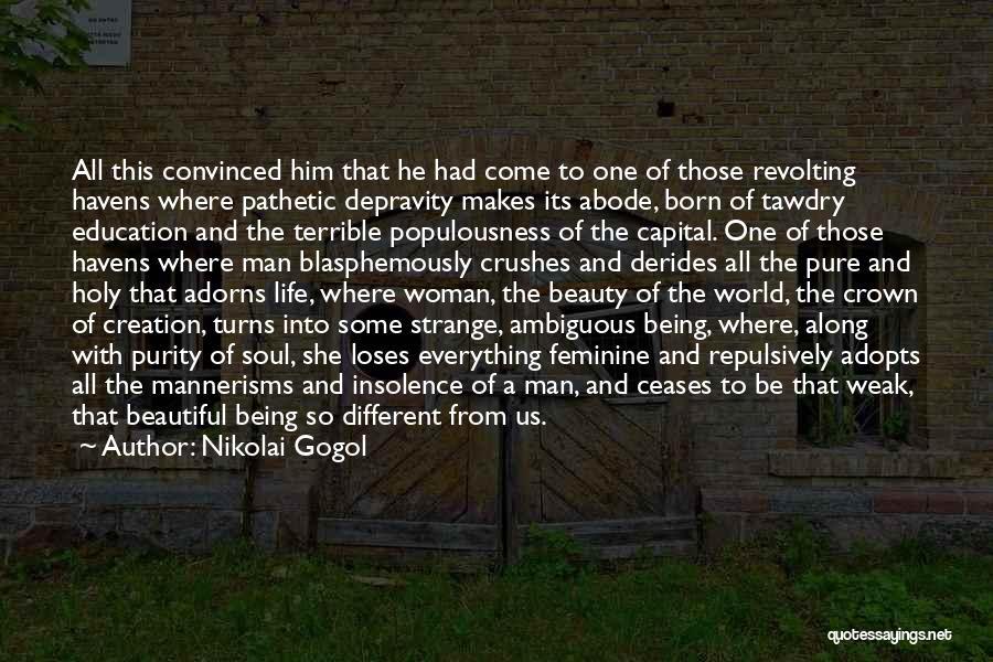 Strange Beauty Quotes By Nikolai Gogol