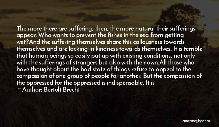 Strangers Kindness Quotes By Bertolt Brecht