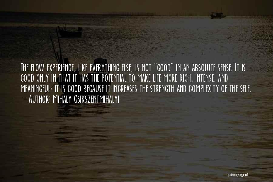 Strength And Life Quotes By Mihaly Csikszentmihalyi