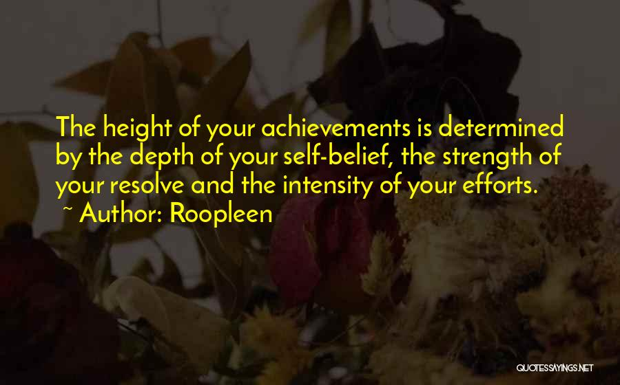 Strength And Motivation Quotes By Roopleen