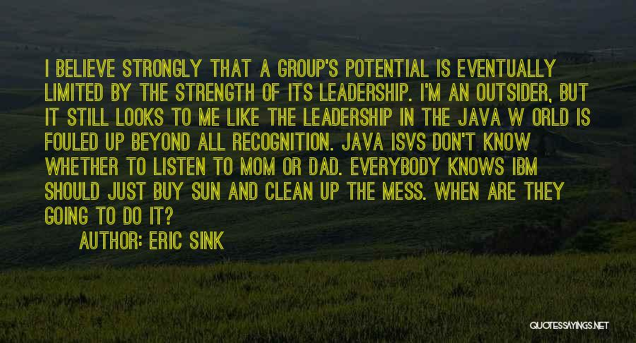 Strength In Group Quotes By Eric Sink