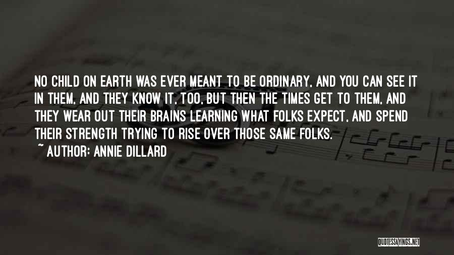 Strength In Trying Times Quotes By Annie Dillard
