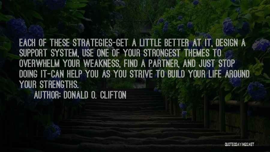 Strength To Get Better Quotes By Donald O. Clifton