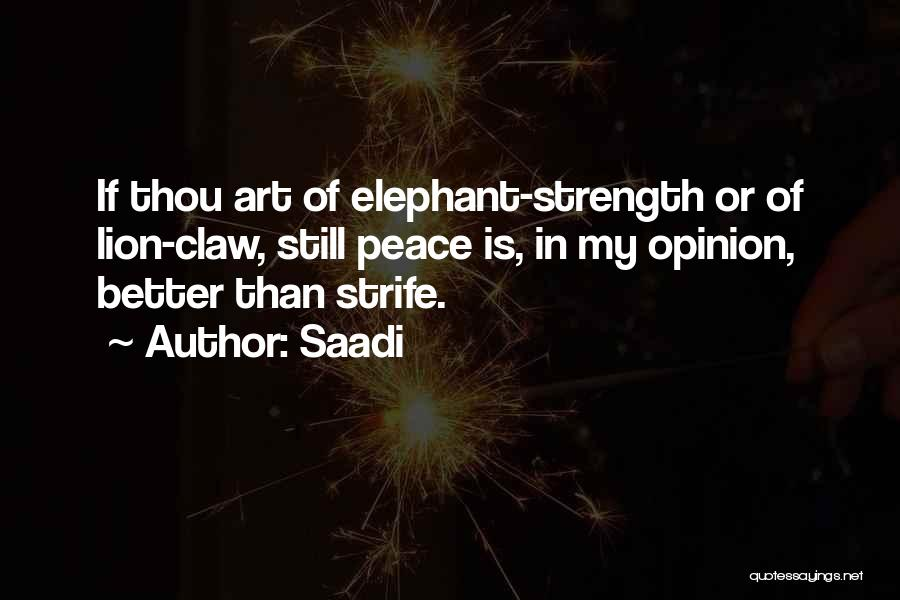Strength To Get Better Quotes By Saadi
