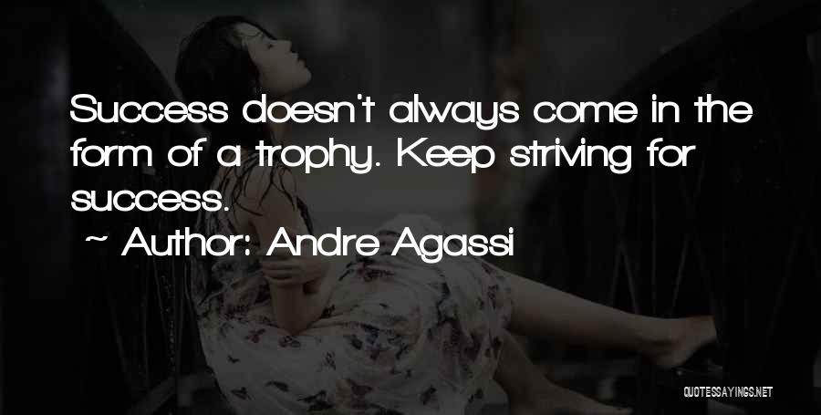 Strive For Success Quotes By Andre Agassi