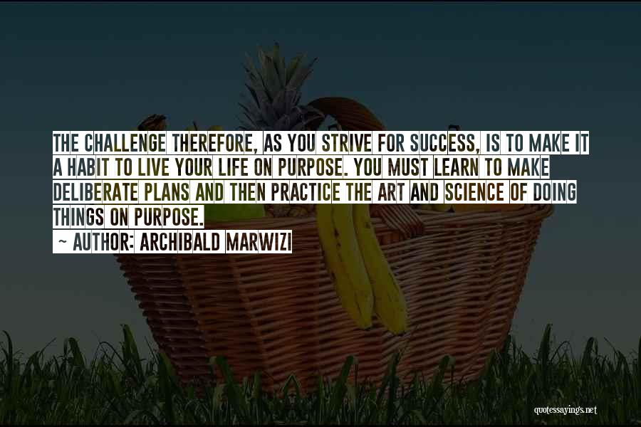 Strive For Success Quotes By Archibald Marwizi